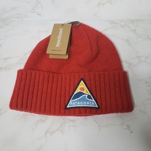 NWT Patagonia Red Beanie Hat